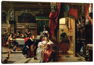 Sir Anthony van Dyck (1599-1641) in London, 1837 Canvas Art Print