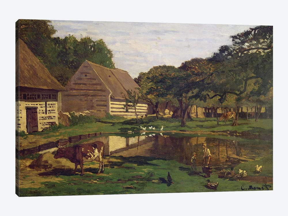 A Farmyard in Normandy, c.1863  by Claude Monet 1-piece Canvas Wall Art