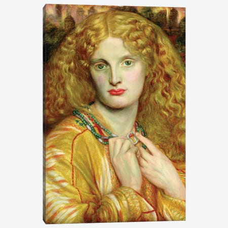Helen of Troy, 1863 Canvas Print #BMN8163} by Dante Gabriel Charles Rossetti Art Print