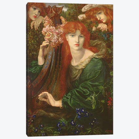 La Ghirlandata, 1873 Canvas Print #BMN8164} by Dante Gabriel Charles Rossetti Canvas Artwork