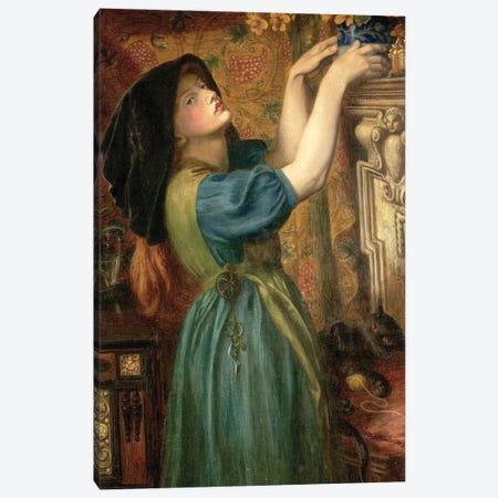 Marigolds (The Bower Maiden, Fleur-de-Marie), 1874 Canvas Print #BMN8166} by Dante Gabriel Charles Rossetti Canvas Wall Art