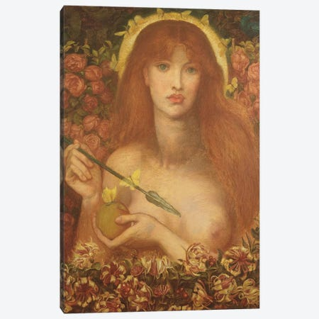 Venus Verticordia, 1868 Canvas Print #BMN8169} by Dante Gabriel Charles Rossetti Canvas Art Print
