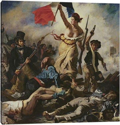 Liberty Leading the People, 28 July 1830, c.1830-31 Canvas Art Print