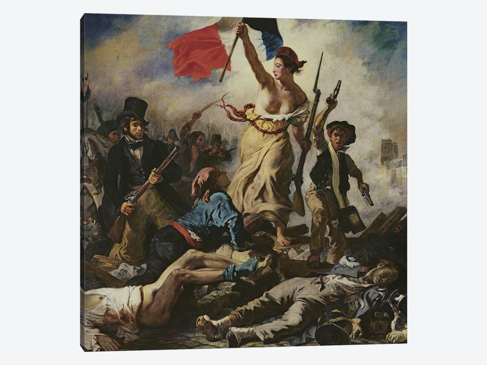 Liberty Leading the People, 28 July 1830, c.1830-31 by Ferdinand Victor Eugene Delacroix 1-piece Canvas Artwork