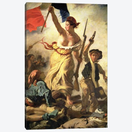 Liberty Leading the People, 28 July 1830, c.1830-31 Canvas Print #BMN8171} by Ferdinand Victor Eugene Delacroix Canvas Art
