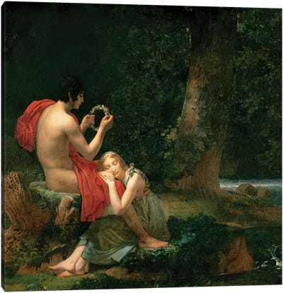 Daphnis and Chloe, 1824-25 Canvas Art Print
