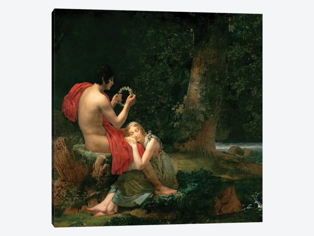 Daphnis and Chloe, 1824-25 by Francois Pascal Simon Gerard 1-piece Canvas Artwork