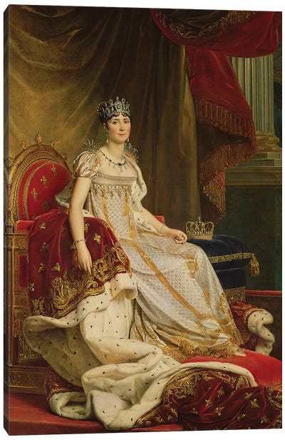 Empress Josephine (1763-1814) 1808 Canvas Art Print