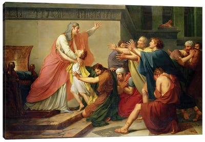 Joseph Recognised by his Brothers Canvas Art Print
