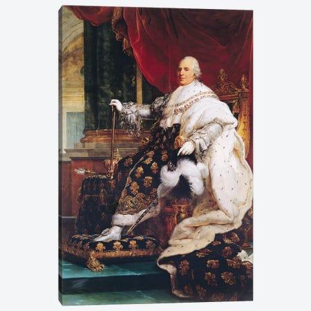 Louis XVIII (1755-1824) Canvas Print #BMN8175} by Francois Pascal Simon Gerard Art Print