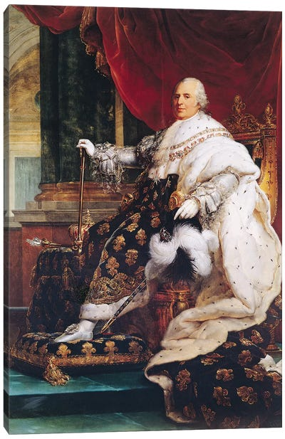 Louis XVIII (1755-1824) Canvas Art Print