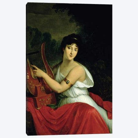 Portrait of Madame de la Pleigne Canvas Print #BMN8176} by Francois Pascal Simon Gerard Canvas Print