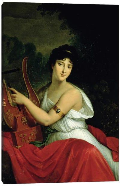 Portrait of Madame de la Pleigne Canvas Art Print