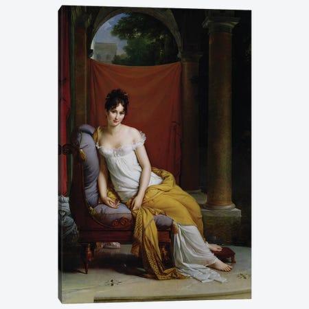 Portrait of Madame Recamier (1777-1849) Canvas Print #BMN8177} by Francois Pascal Simon Gerard Canvas Print