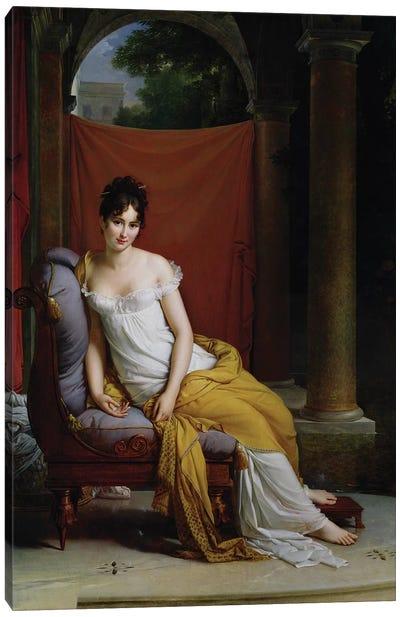 Portrait of Madame Recamier (1777-1849) Canvas Art Print