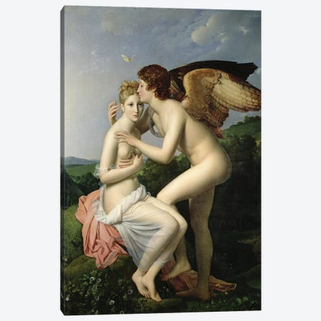Psyche Receiving the First Kiss of Cupid, 1798 Canvas Print #BMN8178} by Francois Pascal Simon Gerard Canvas Artwork