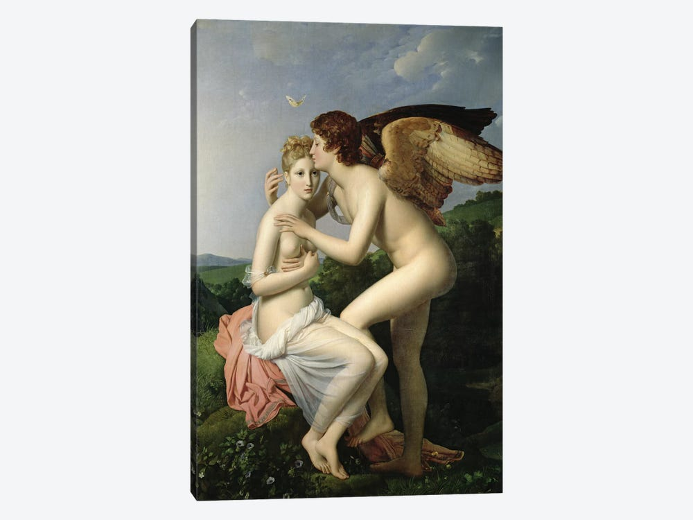 Psyche Receiving the First Kiss of Cupid, 1798 by Francois Pascal Simon Gerard 1-piece Canvas Artwork