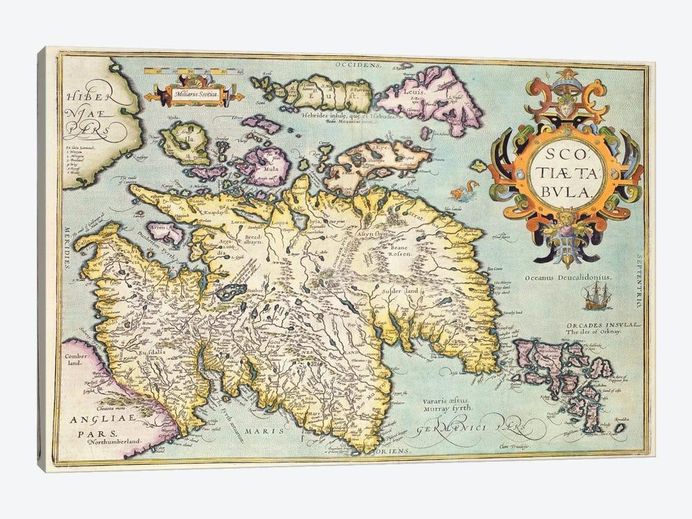 Map of Scotland, Miliaria Scotia by Unknown Artist 1-piece Canvas Art