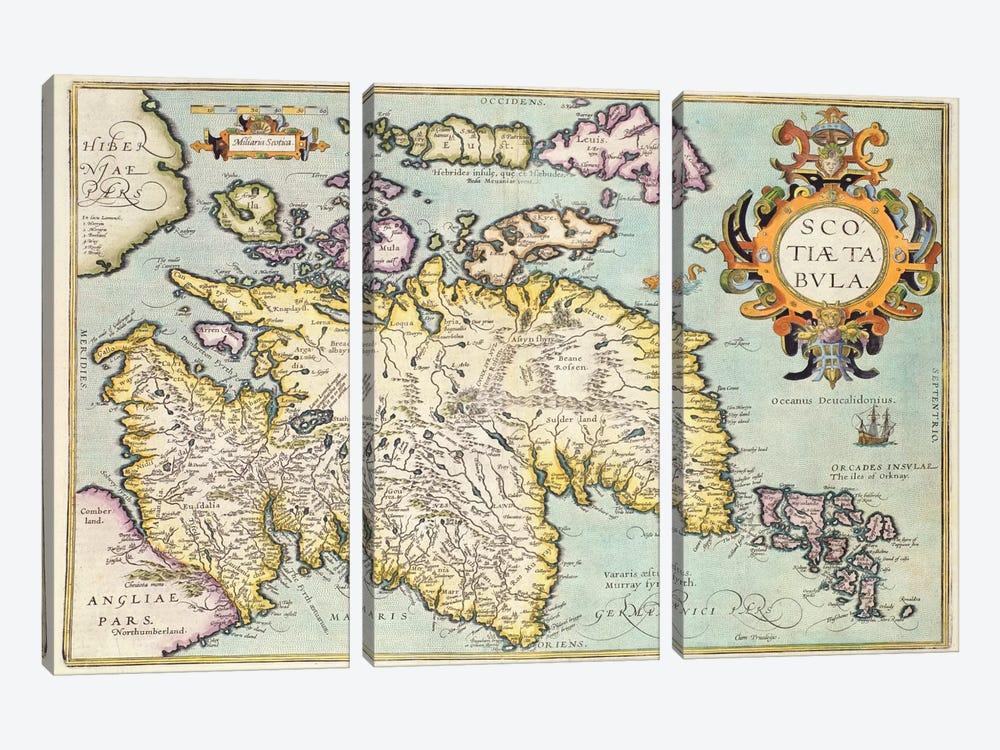 Map of Scotland, Miliaria Scotia by Unknown Artist 3-piece Canvas Art