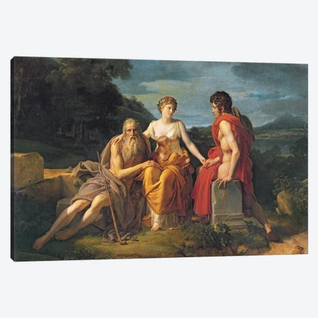 The Three Ages Canvas Print #BMN8180} by Francois Pascal Simon Gerard Art Print