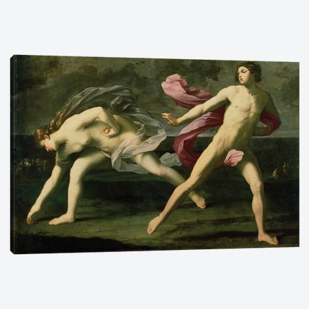 Atalanta and Hippomenes, c.1612 Canvas Print #BMN8182} by Guido Reni Art Print