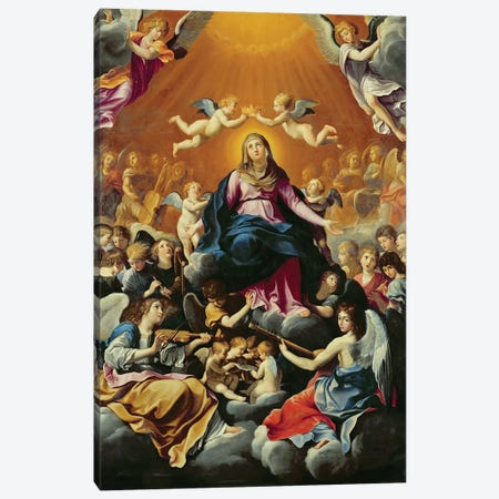 Coronation of the Virgin  Canvas Print #BMN8184} by Guido Reni Canvas Art