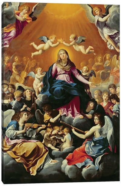 Coronation of the Virgin  Canvas Art Print
