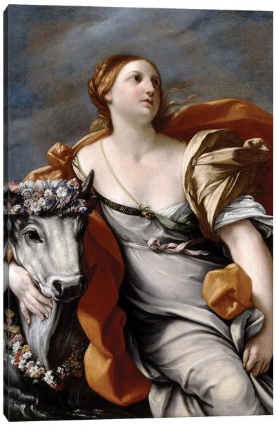 Europa and the Bull  Canvas Art Print