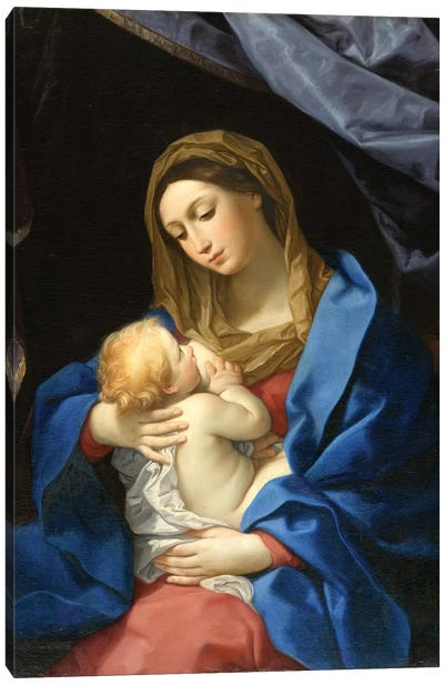 Madonna and Child, c.1628-1630  Canvas Art Print