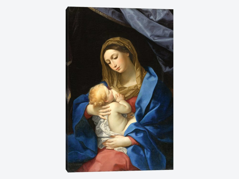 Madonna and Child, c.1628-1630  by Guido Reni 1-piece Canvas Art