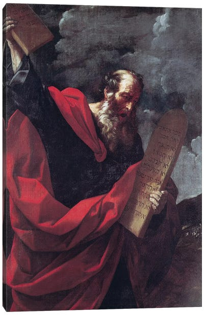 Moses with the Tablets of the Law  Canvas Art Print