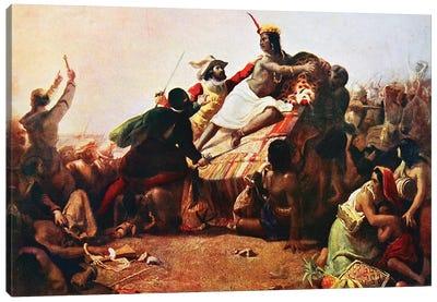 Pizarro Seizing the Inca of Peru John Everett Millais, 1754 Canvas Art Print