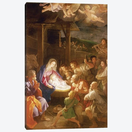 The Nativity at Night, 1640  Canvas Print #BMN8197} by Guido Reni Canvas Art Print