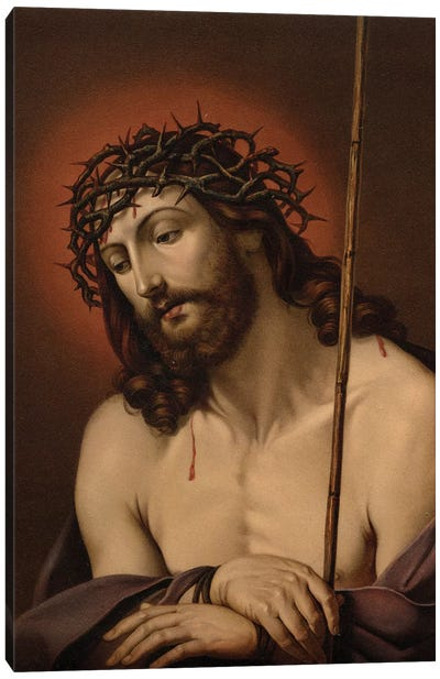 The Suffering Redeemer (colour litho) Canvas Art Print