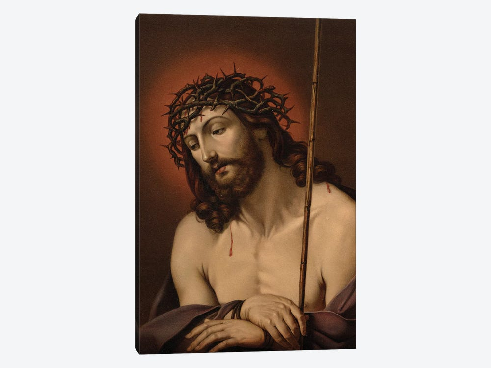 The Suffering Redeemer (colour litho) by Guido Reni 1-piece Canvas Artwork