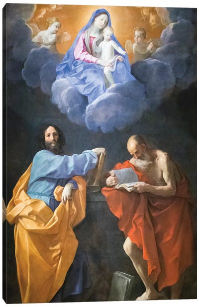 Virgin in Glory with Saints Thomas and Jerome  Canvas Art Print