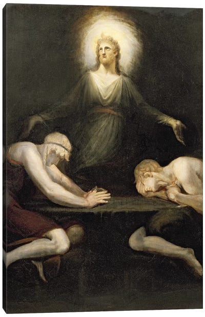 The Appearance of Christ at Emmaus, 1792  Canvas Art Print