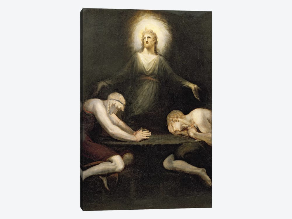 The Appearance of Christ at Emmaus, 1792  by Henry Fuseli 1-piece Canvas Wall Art