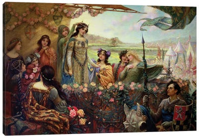 Lancelot and Guinevere Canvas Art Print