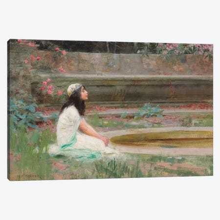Popeia,  Canvas Print #BMN8209} by Herbert James Draper Canvas Wall Art