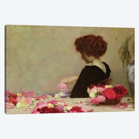 Pot Pourri, 1897  Canvas Print #BMN8210} by Herbert James Draper Canvas Art Print