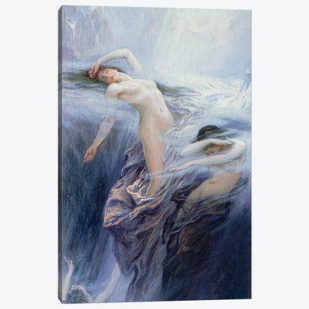 Study For Clyties Of The Mist  Canvas Print #BMN8211} by Herbert James Draper Art Print