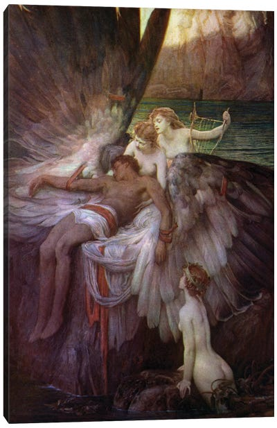 The Lament for Icarus Canvas Art Print