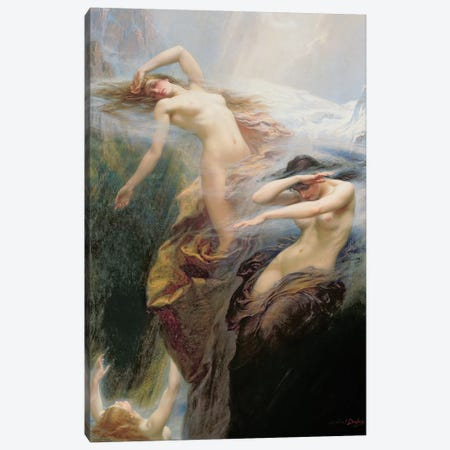 The Mountain Mists or, Clyties of the Mist, 1912  Canvas Print #BMN8214} by Herbert James Draper Canvas Art