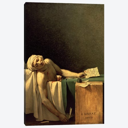 The Death of Marat, 1793  Canvas Print #BMN8215} by Jacques-Louis David Canvas Artwork
