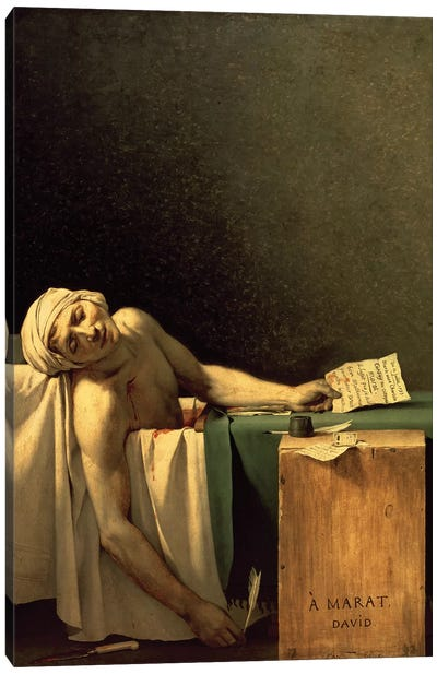The Death of Marat, 1793  Canvas Art Print