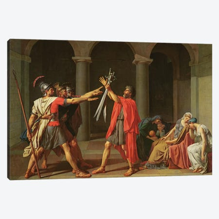 The Oath of Horatii, 1784  Canvas Print #BMN8216} by Jacques-Louis David Canvas Art