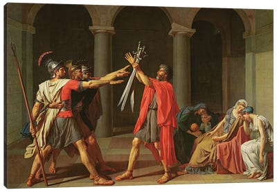 The Oath of Horatii, 1784  Canvas Art Print