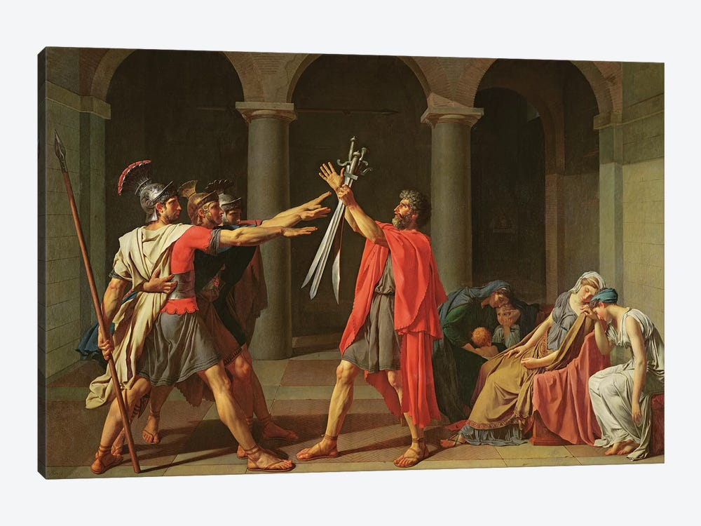The Oath of Horatii, 1784  by Jacques-Louis David 1-piece Canvas Wall Art