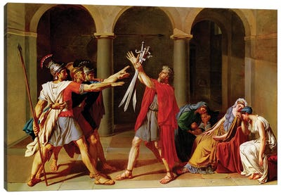 The Oath of the Horatii, c.1783 Canvas Art Print